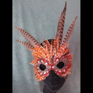 Calico Cat FantaFaces Feather Mask