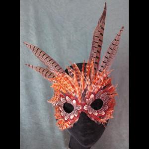 Calico Cat FantaFaces Feather Mask