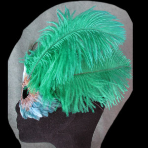 Green Ostrich FantaFaces Mask