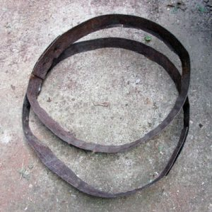 Rusty Barrel Hoops