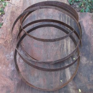 Rusty Barrel Hoops