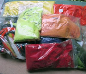 Dyed Cotton for Fly Tying