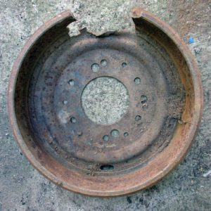 Rusted Heavy Circle Base
