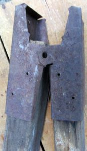 Rusty Saw Horse Hardware