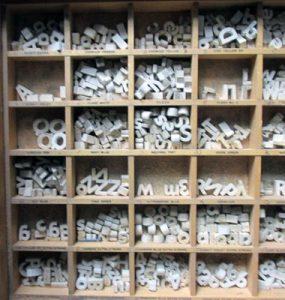 White Ceramic Letters